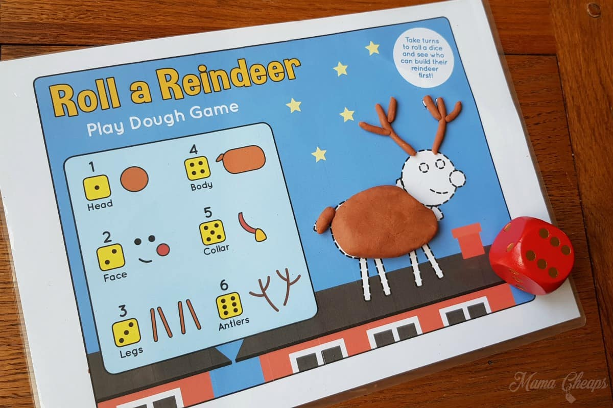 Roll a Reindeer Printable Game 1