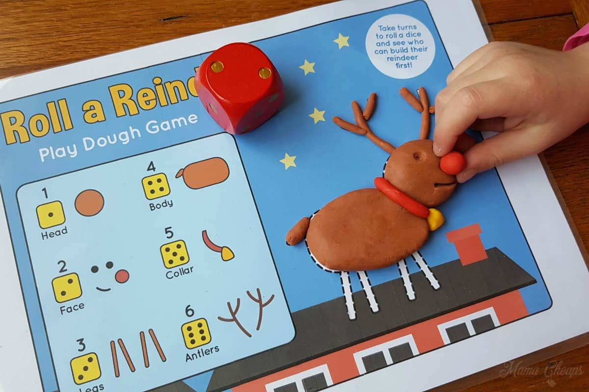 Roll a Reindeer Printable Game 2