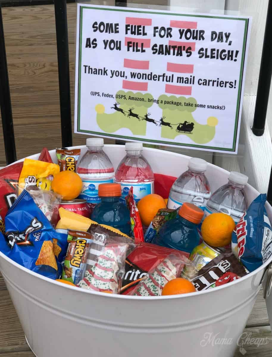 Santa Snacks for Mail Carriers