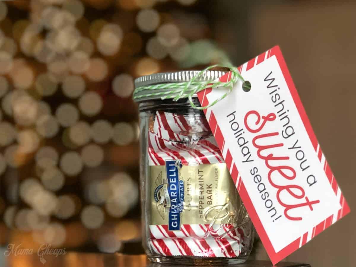chocolate treats jar