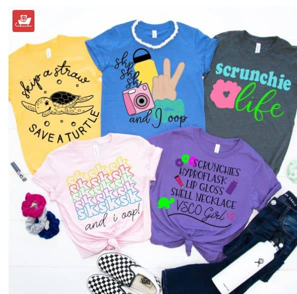 vsco girl tee shirts