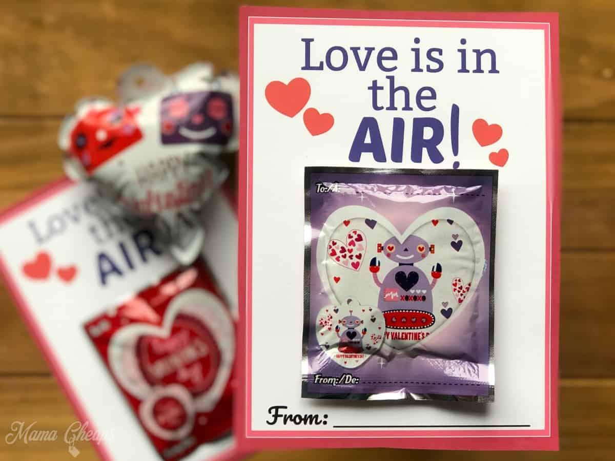 Balloon Valentine Printable DIY Cards
