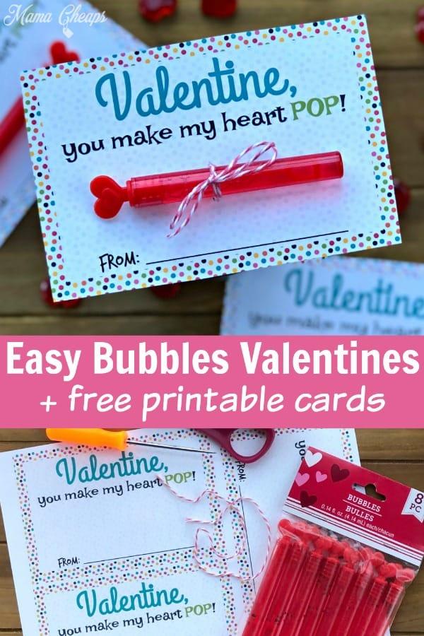 Bubbles Valentine Printables