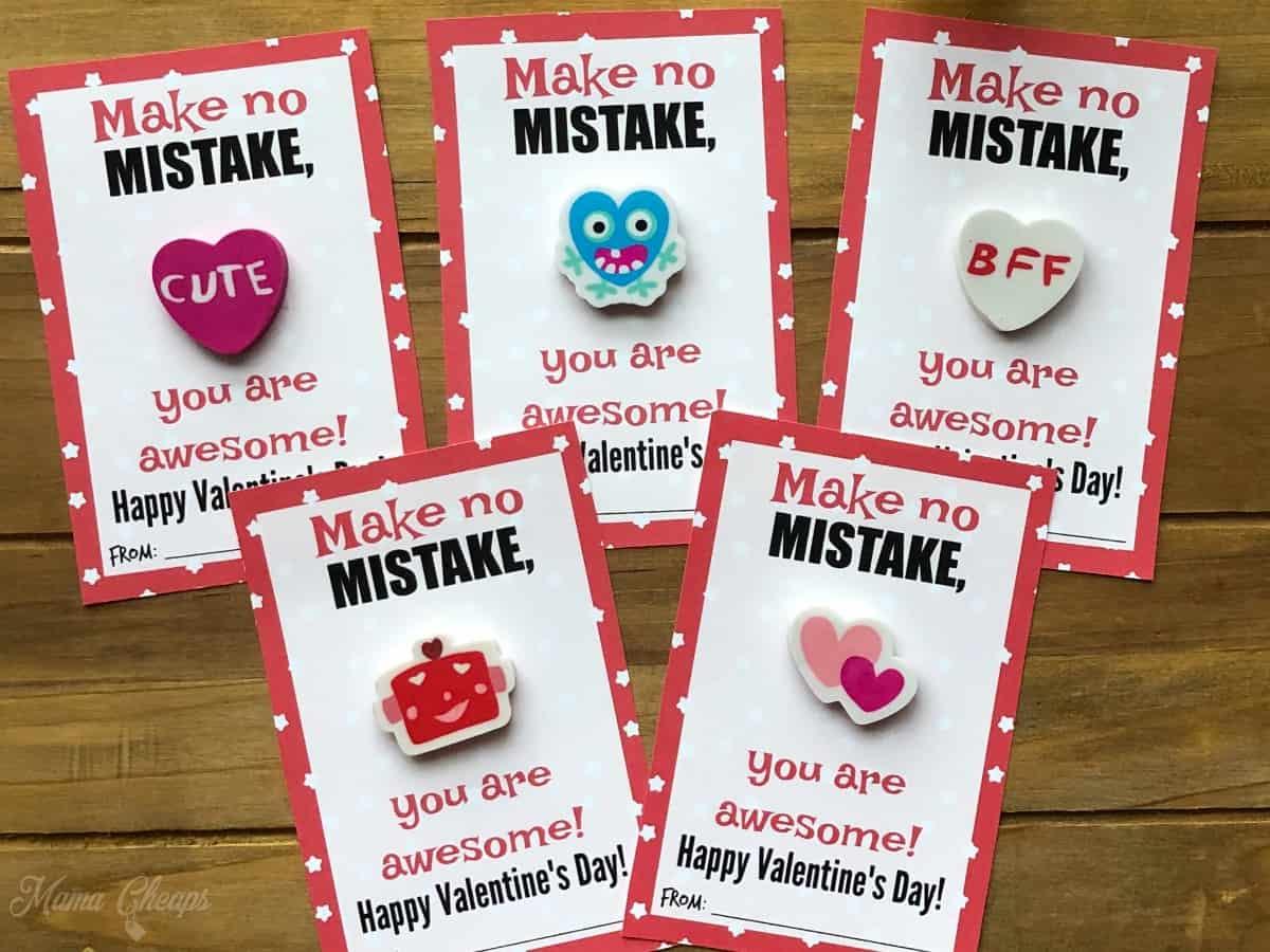 Easy Eraser Valentines