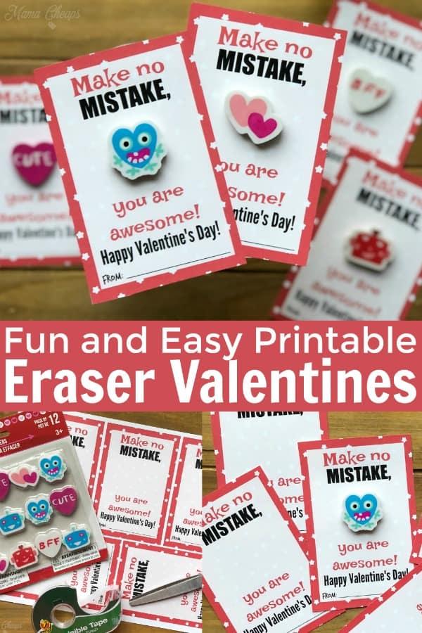 Eraser Valentines PIN