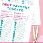 Free Printable DEBT PAYMENT TRACKER PIN