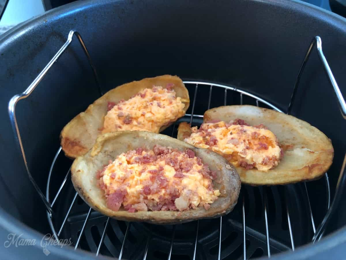 Frozen Loaded Potato Skins in Air Fryer