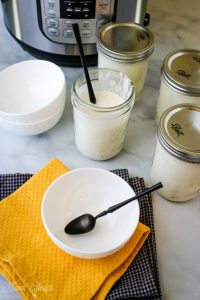 instant pot yogurt in ball jars