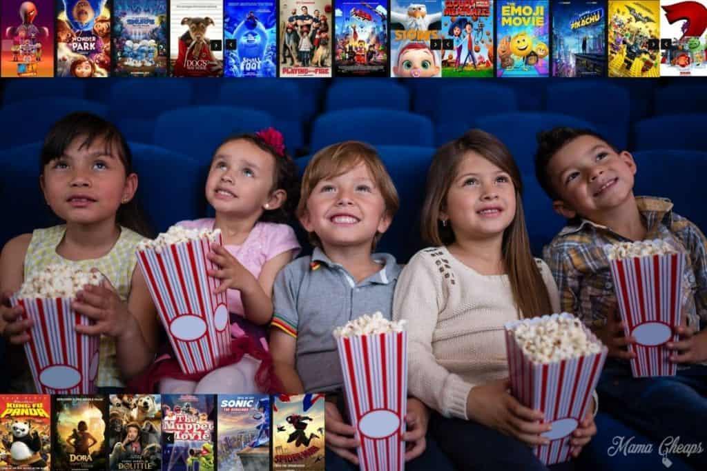 Movie Theatre Kids with movies HERO
