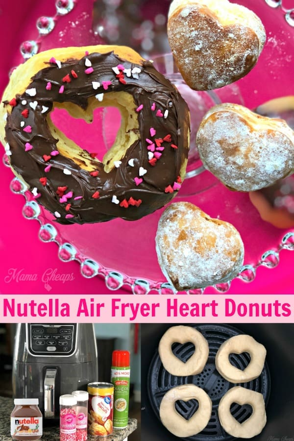 Nutella Air Fryer Heart Donuts PIN