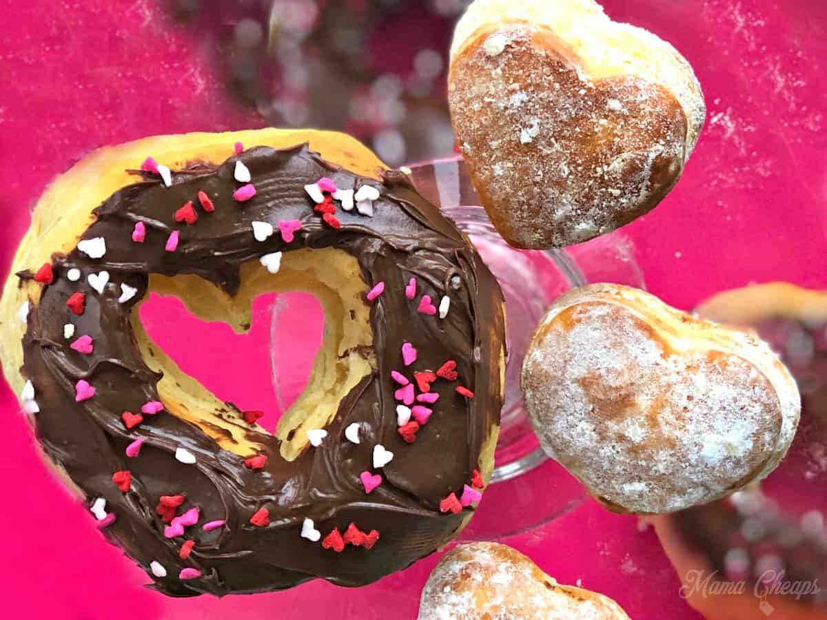 Nutella Heart Donuts FEATURE PIC
