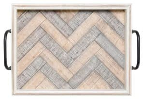 Patrina Wash Wavy Wood Accent Tray