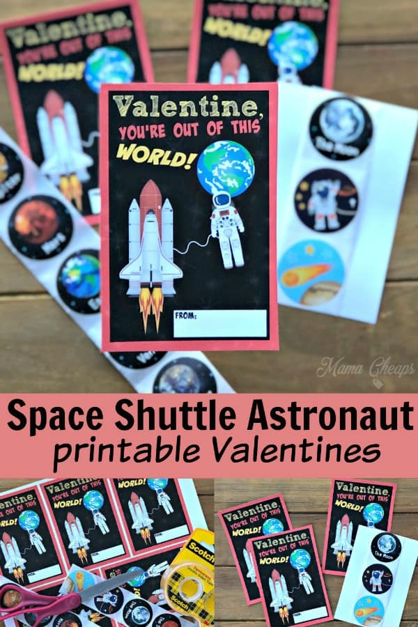 Space Shuttle Astronaut Valentines PIN