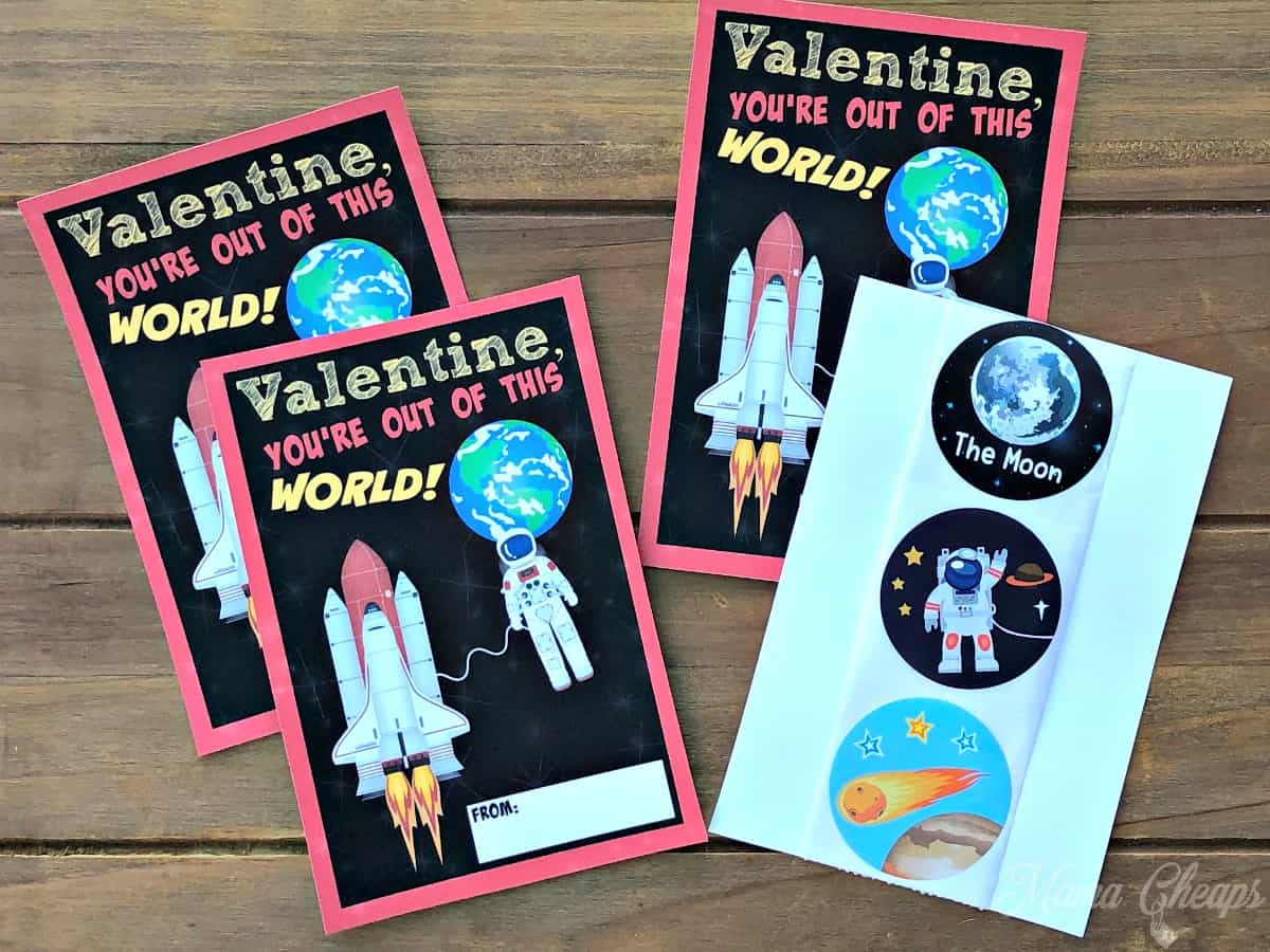 Space Valentines and Stickers