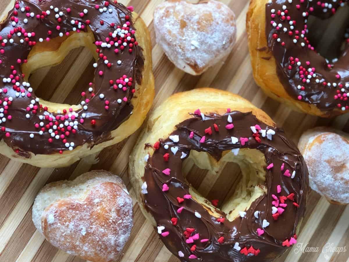 Valentine Air Fryer Heart Donuts