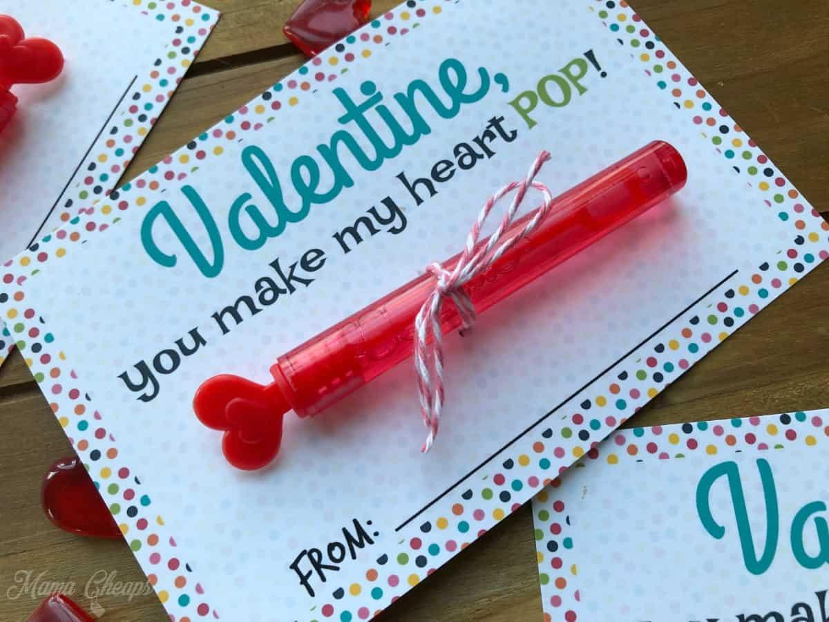 Valentine Bubbles Tied Twine