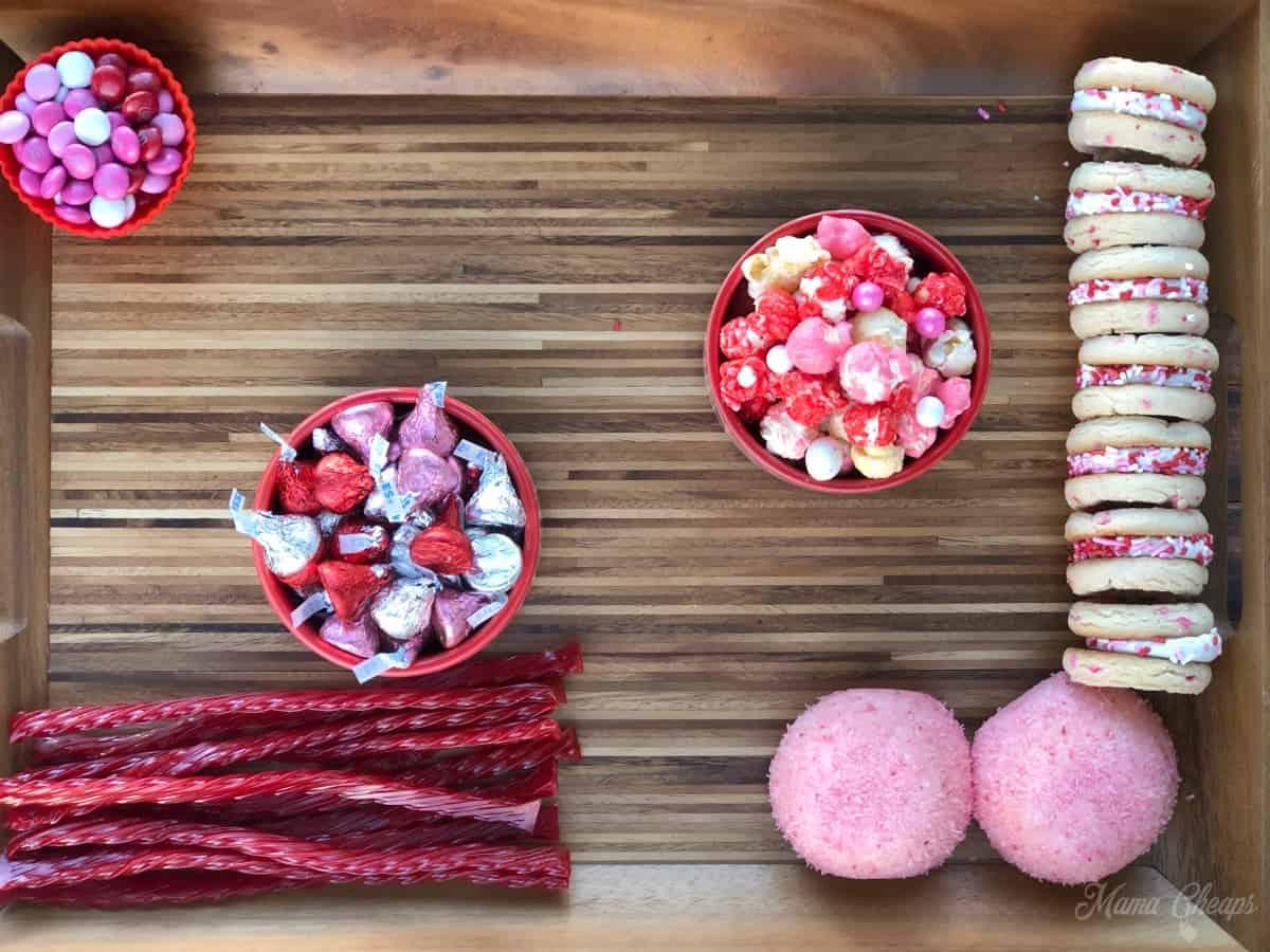 Valentine Dessert Charcuterie Board Building 3