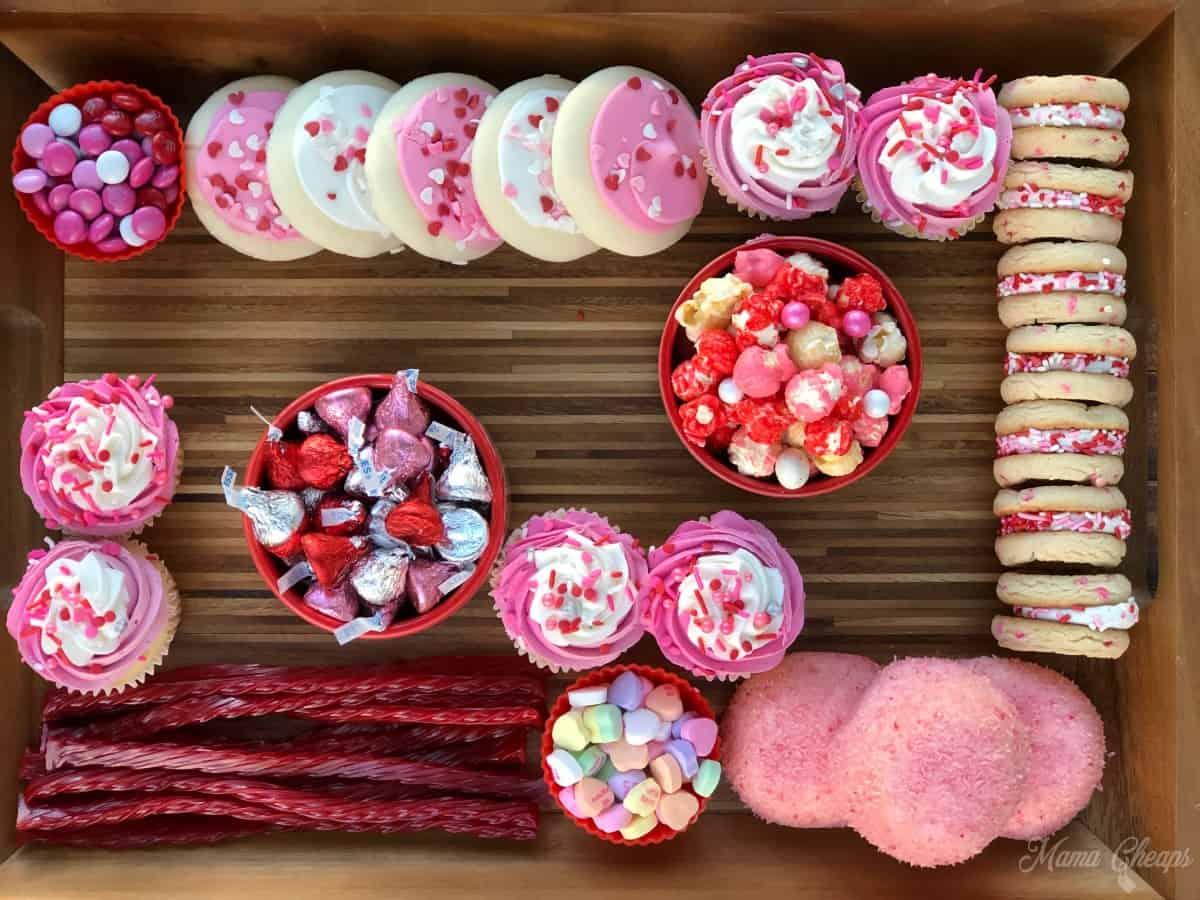 Valentine Dessert Charcuterie Board Building 5