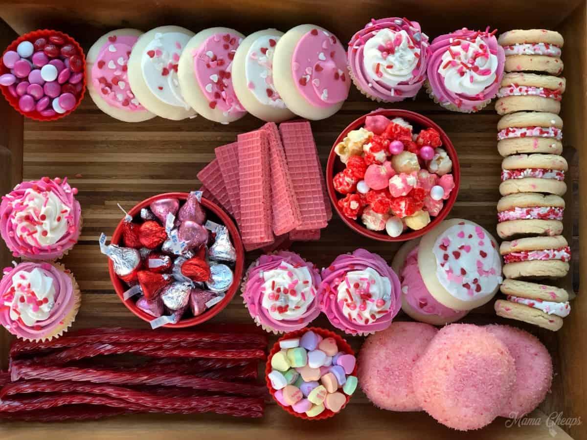 Valentine Dessert Charcuterie Board Building 6