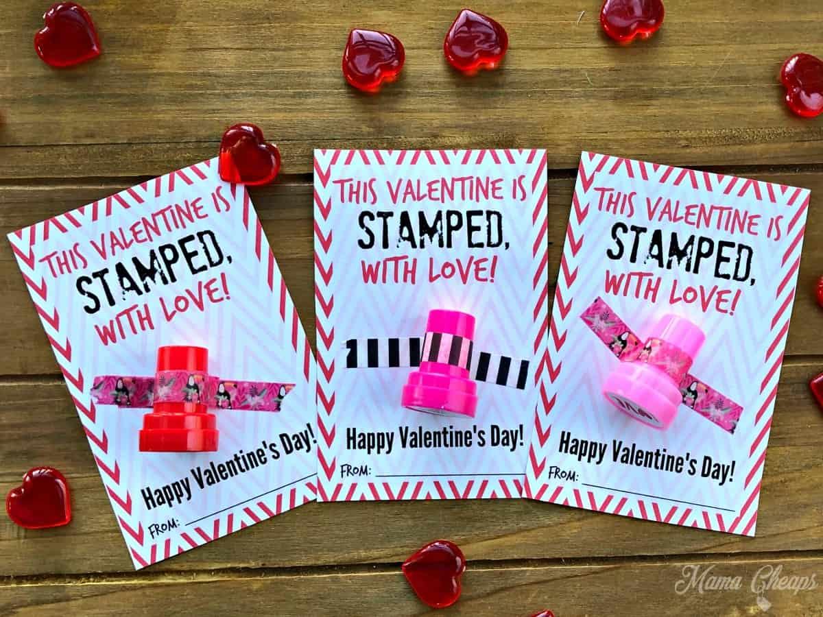 diy stamper valentines