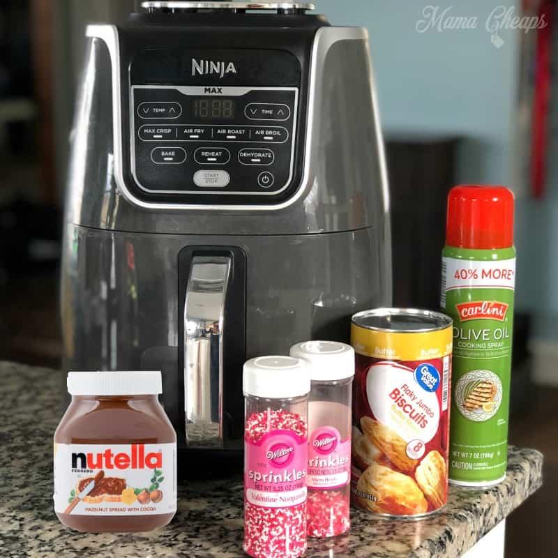 nutella air fryer donut ingredients