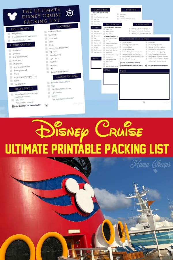 ultimate printable packing list pin