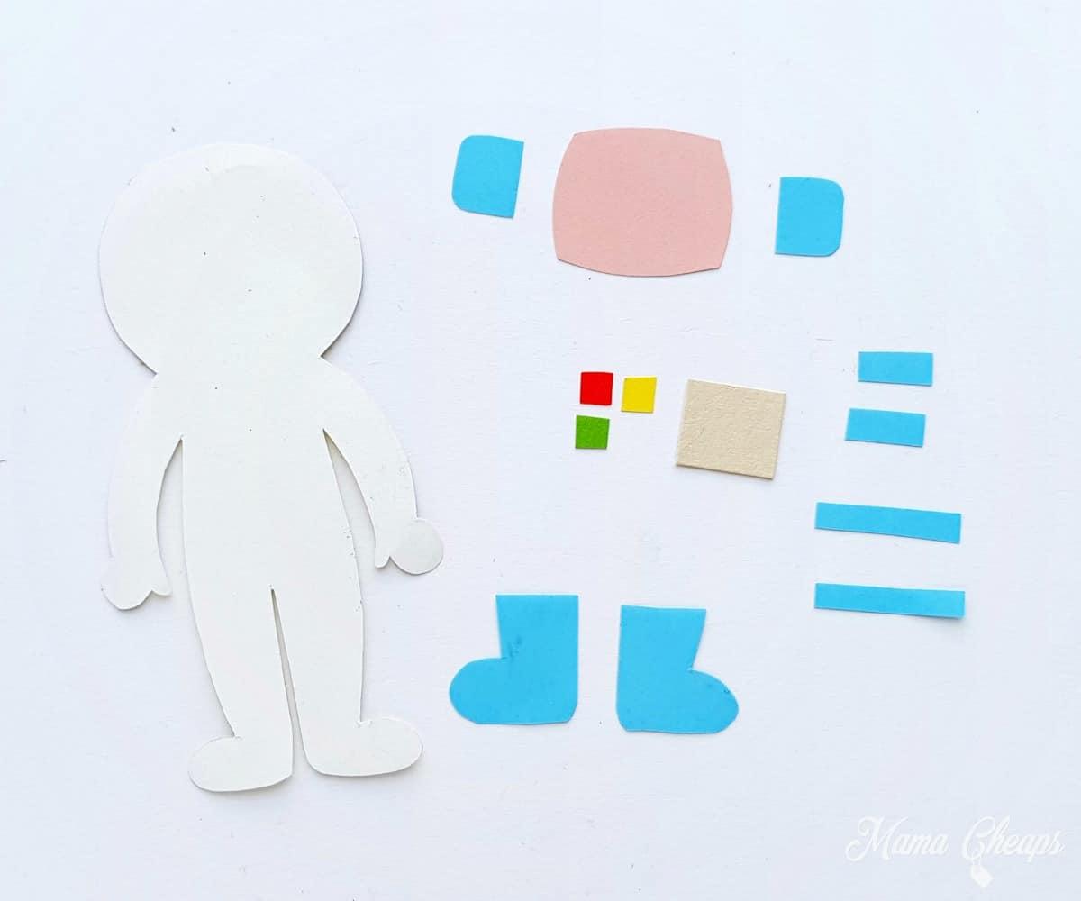 astronaut puppet pieces