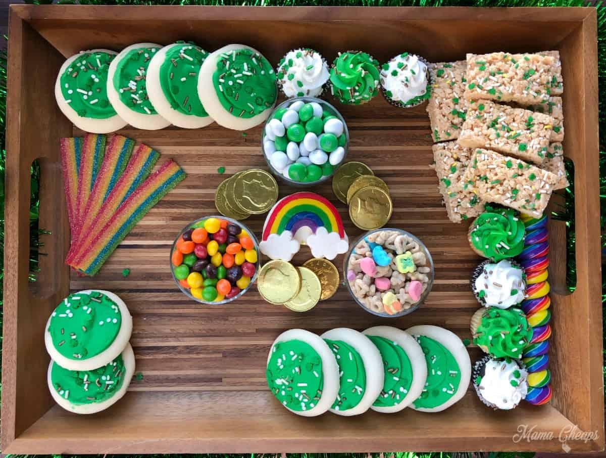 Dessert board adding cupcakes