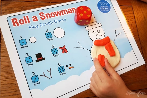Roll a Snowman Play Mat 2