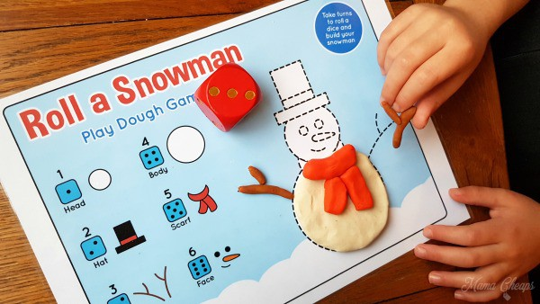 Roll a Snowman Play Mat 3