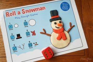 Roll a Snowman Play Mat Feature