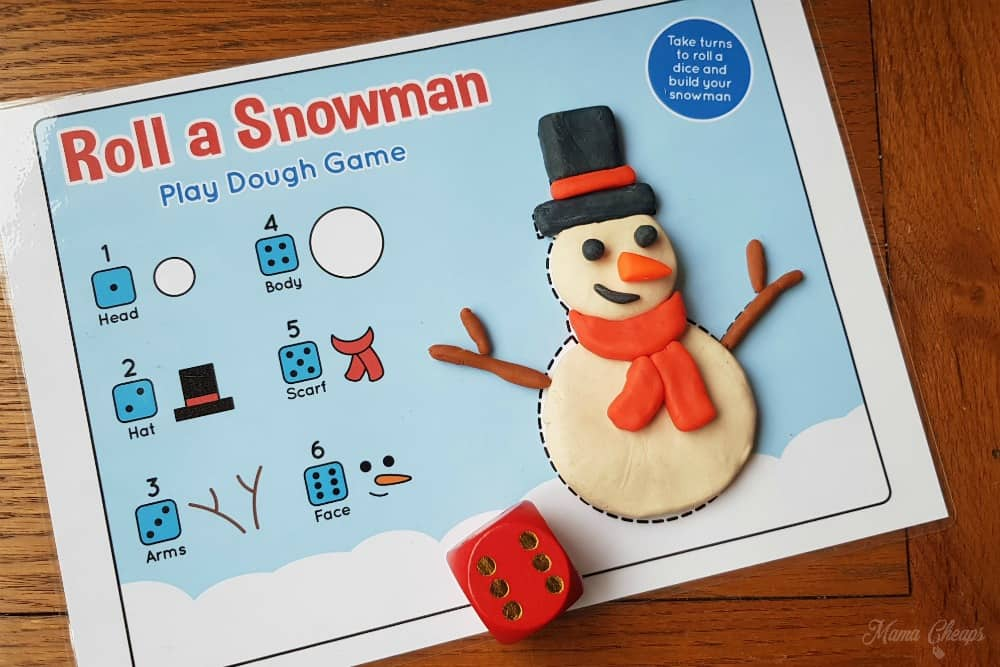 Roll a Snowman Play Mat Feature