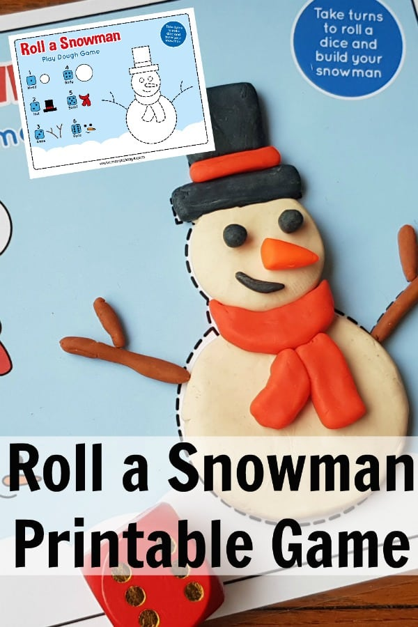 Roll a Snowman Printable Game PIN 2
