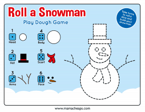 Roll a Snowman-Play Dough