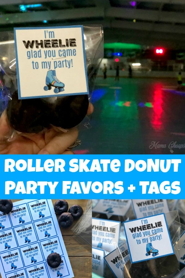 Roller Skate Donut Party Favors PIN