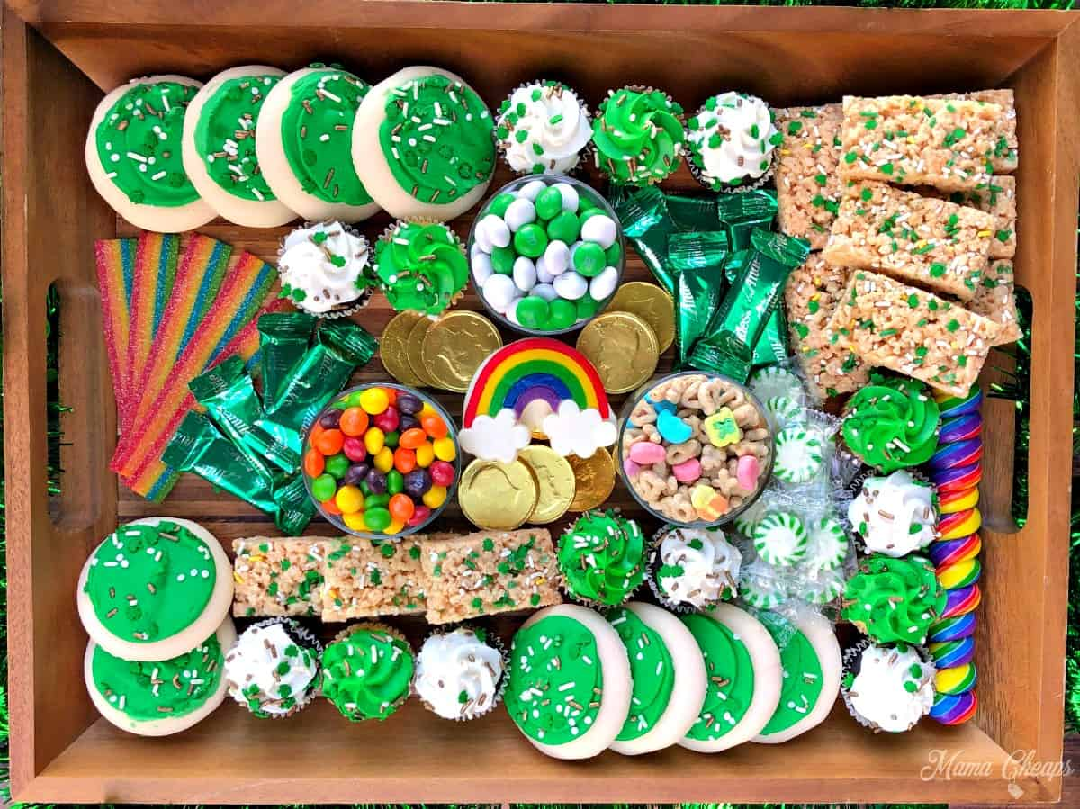 Saint Patricks Dessert Charcuterie Board Feature Colorized
