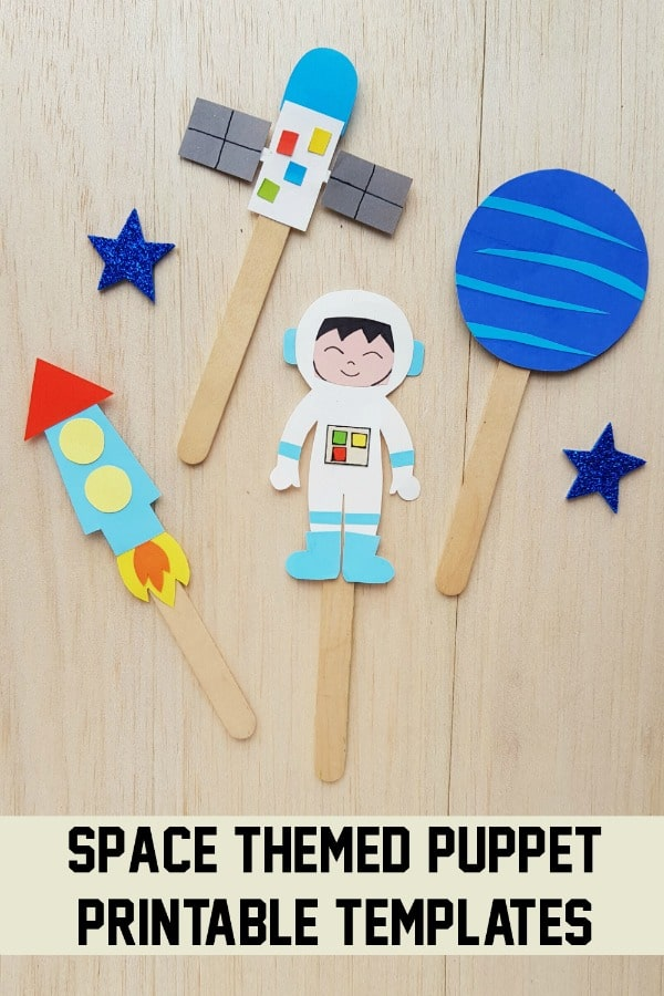 Space themed Puppet printable templates PIN