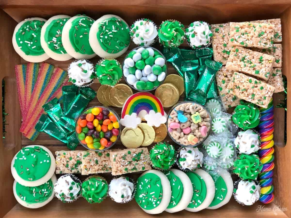 St Patricks Day Dessert Charcuterie Board