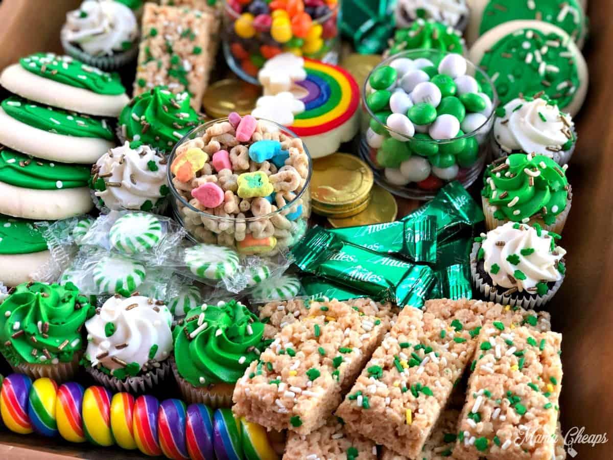 St Patricks Rainbow Dessert Charcuterie Board 1