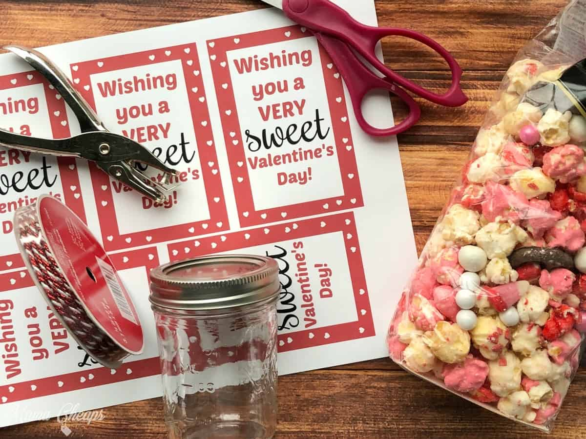 Sweet Valentines Tags Supplies