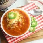 WW Chicken Tortilla Soup Instant Pot