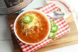 WW Chicken Tortilla Soup Instant Pot