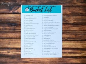 Bucket List for Home BLOG