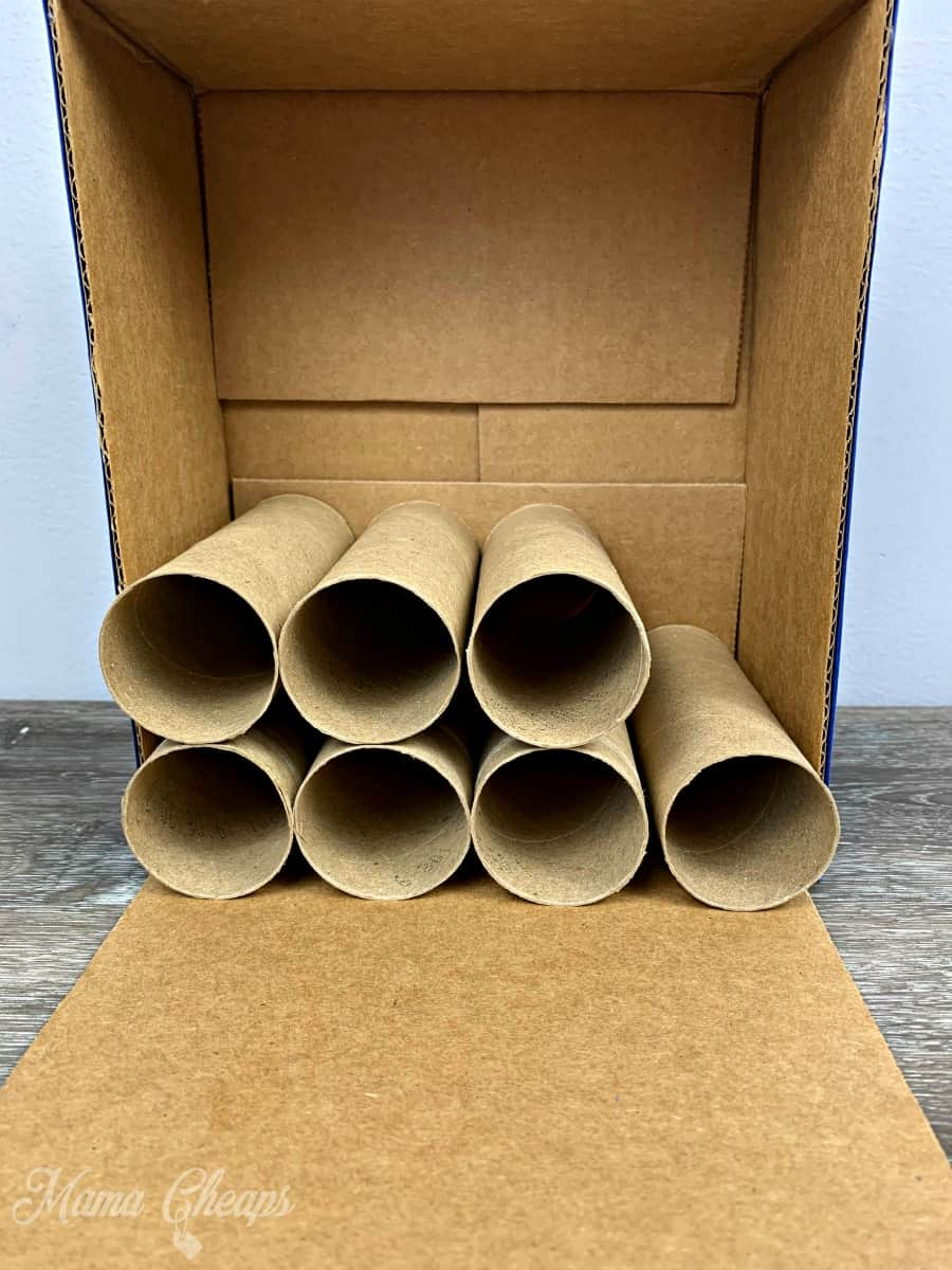Building toilet paper roll car garage