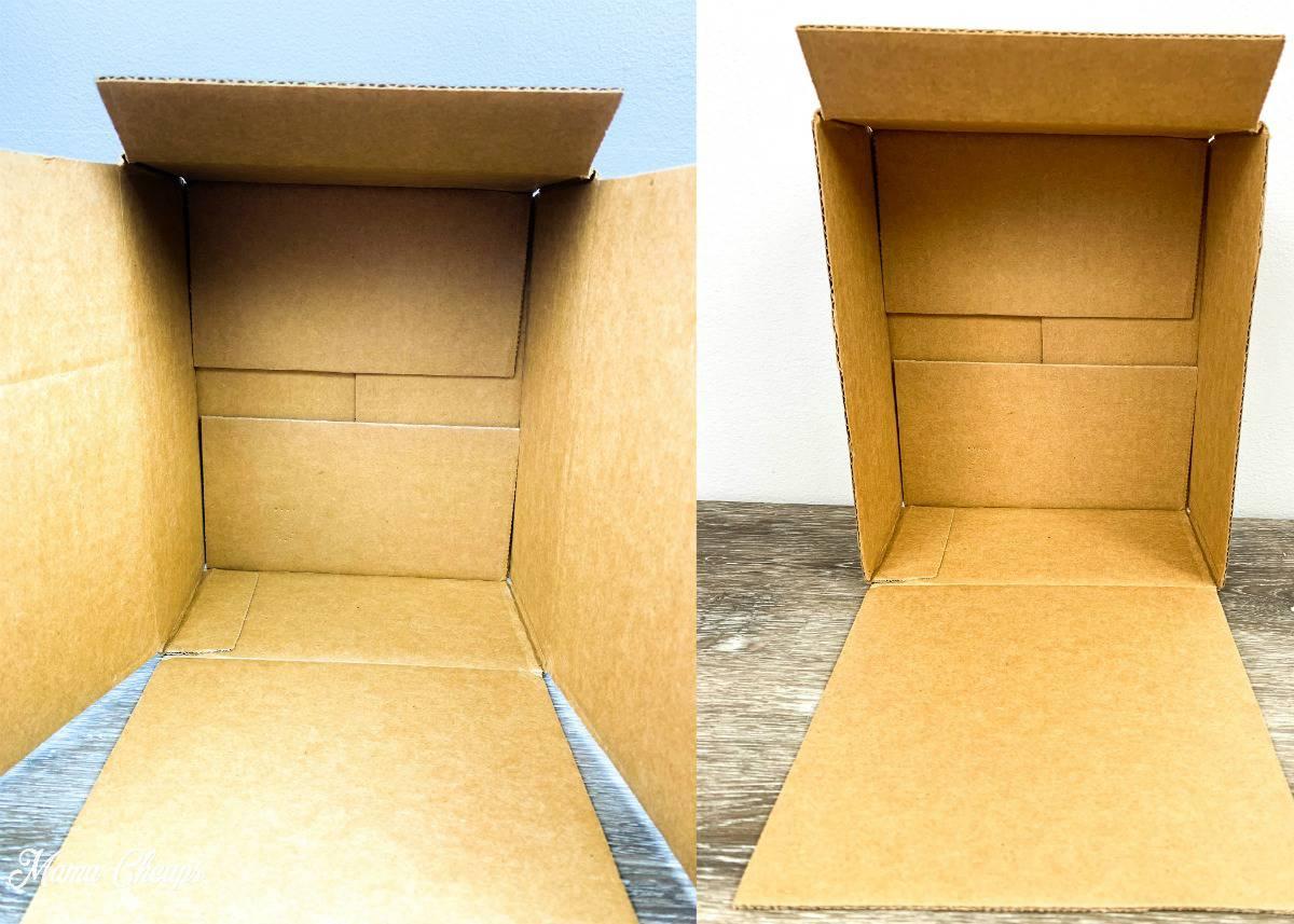 DIY Toilet Paper Roll Garage Boxes Cut