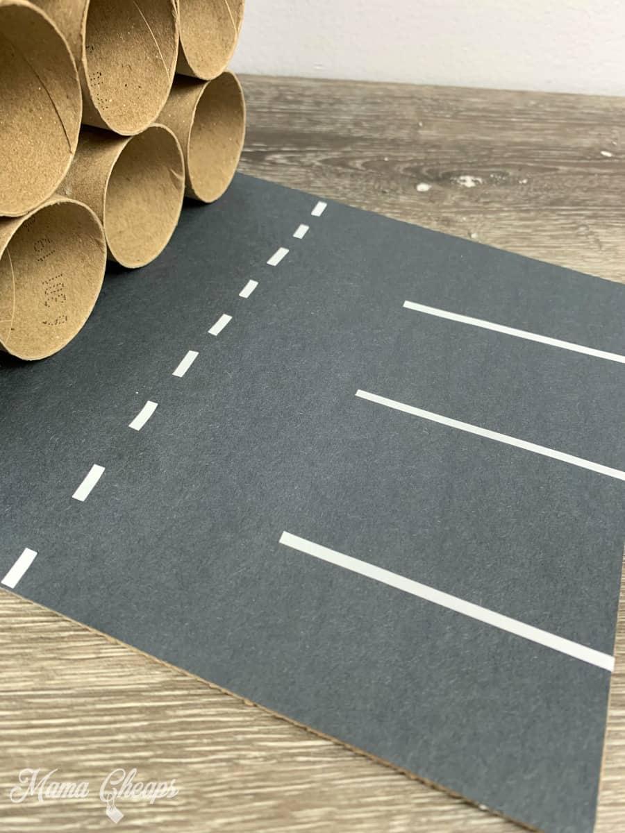 DIY Toilet Paper Roll Garage Roadway