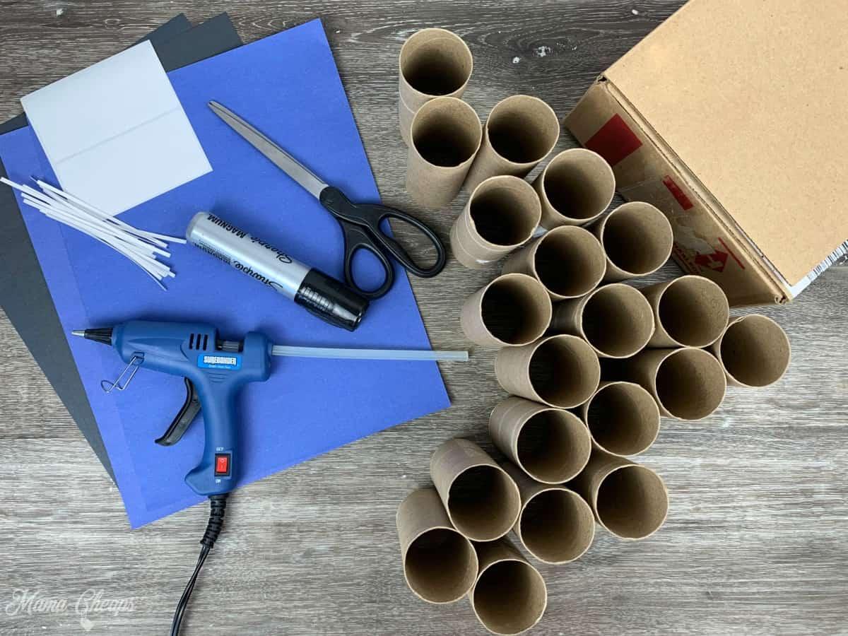 DIY Toilet Paper Roll Garage Supplies