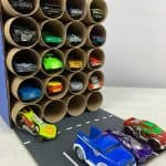 DIY Toilet Paper Roll Garage tall 2