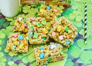 Easy Lucky Charms Treat Bars