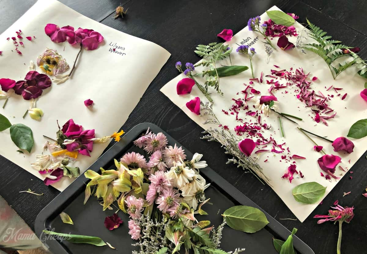 Flower Picture Making at Table